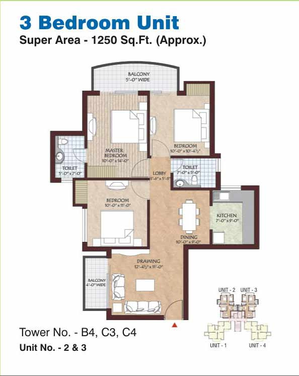 Floor plans shree vardhman group for 1250 sq ft house plans