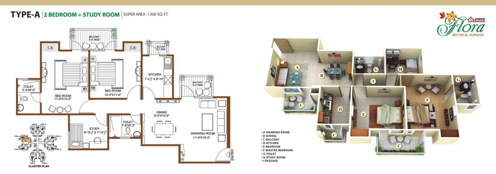 Floor Plan 1 & 2