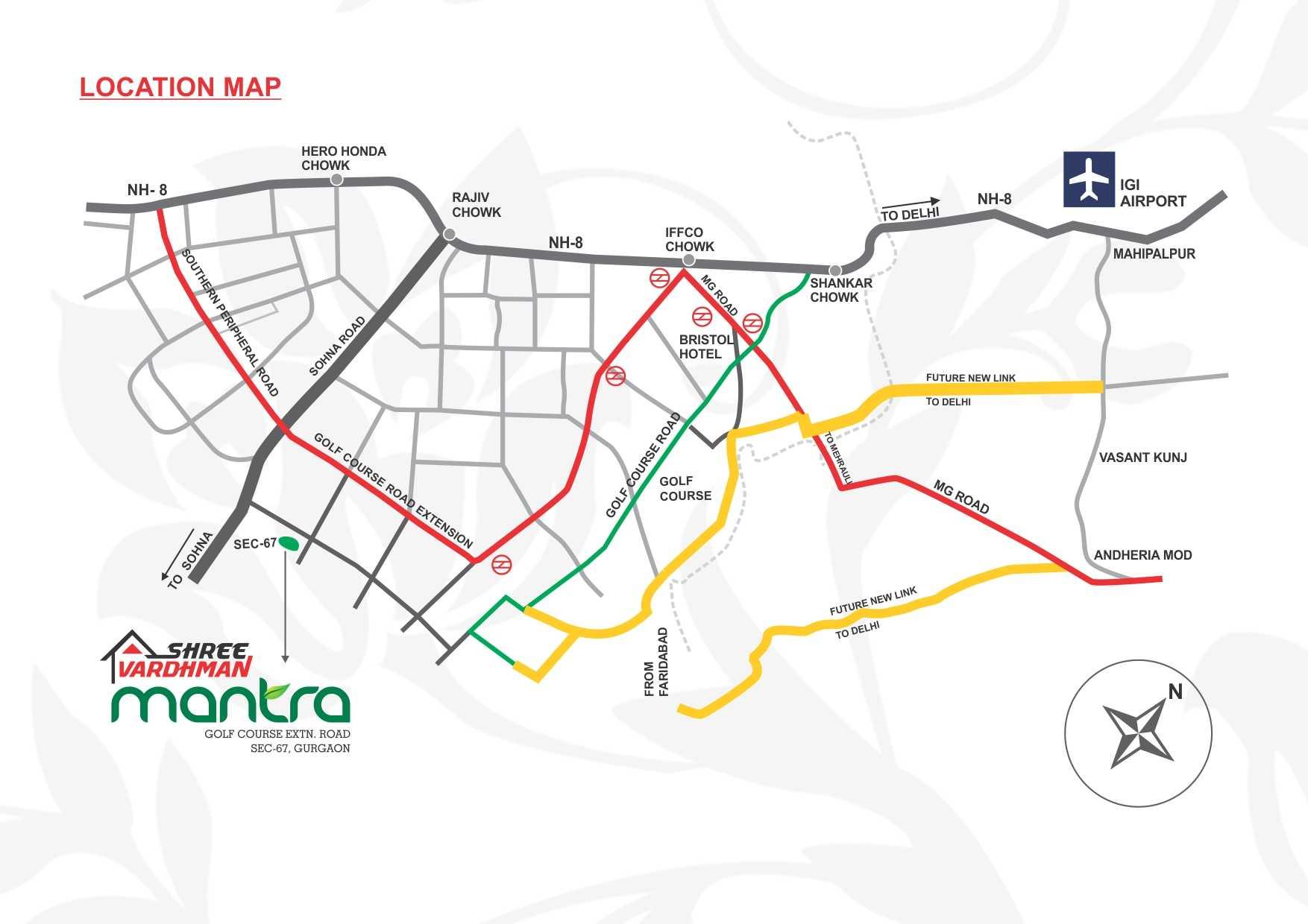 Shree Vardhman Mantra - Location Map