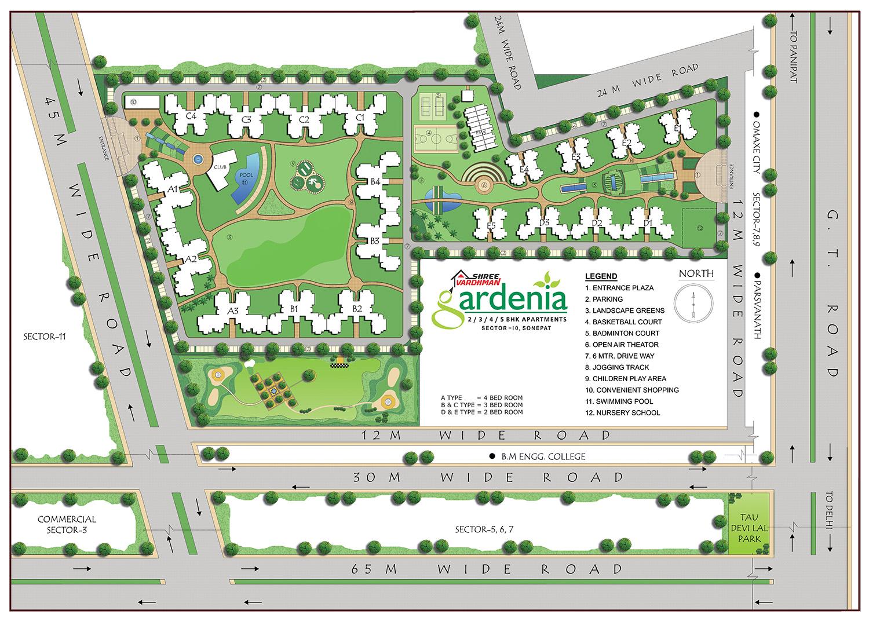 Shree Vardhman Gardenia - Site Map